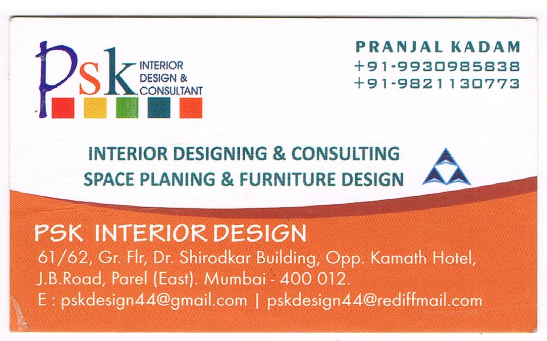 Psk interior design near parel interior contractors for Interior design companies near me