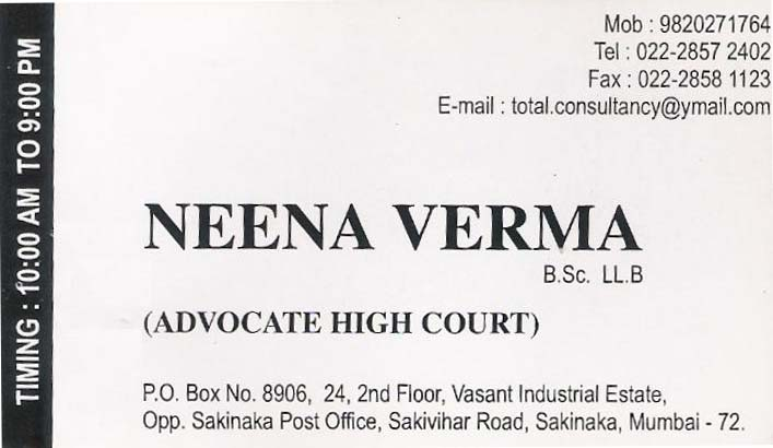 indian advocate visiting card - photo #7